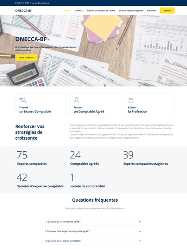 Site web de l'ONECCA